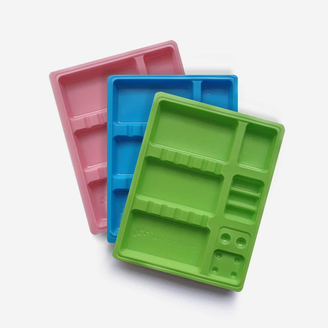 Tacki plastikowe jednorazowe - kolorowe