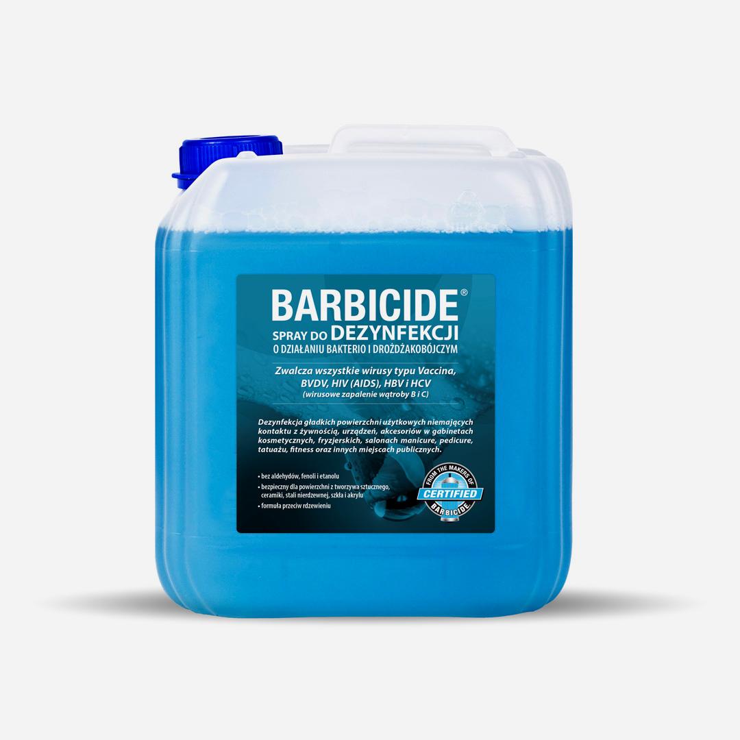 Uzupełnienie sprayu do dezynfekcji powierzchni BARBICIDE - 5l