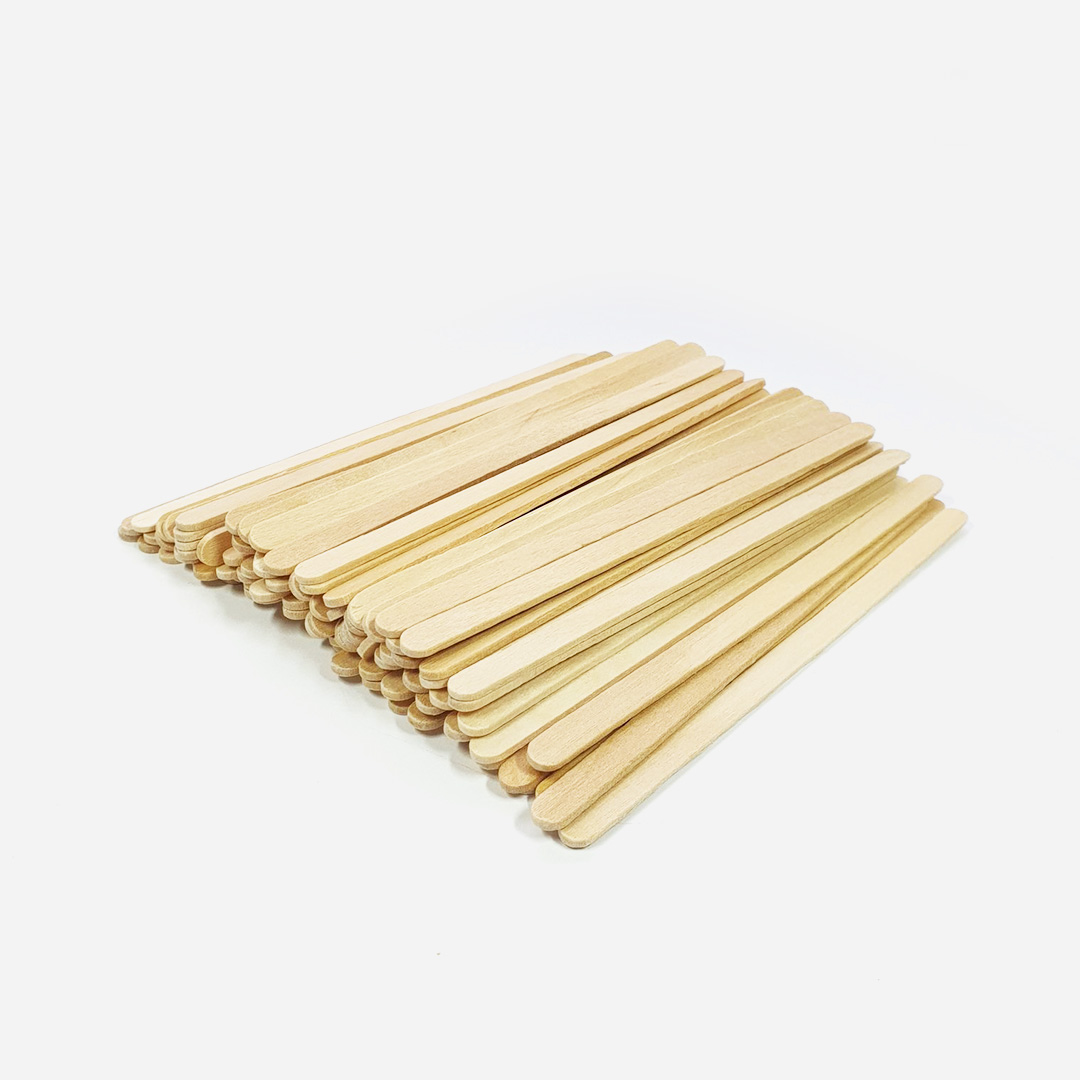 Szpatułki drewniane wąskie - 100 sztuk