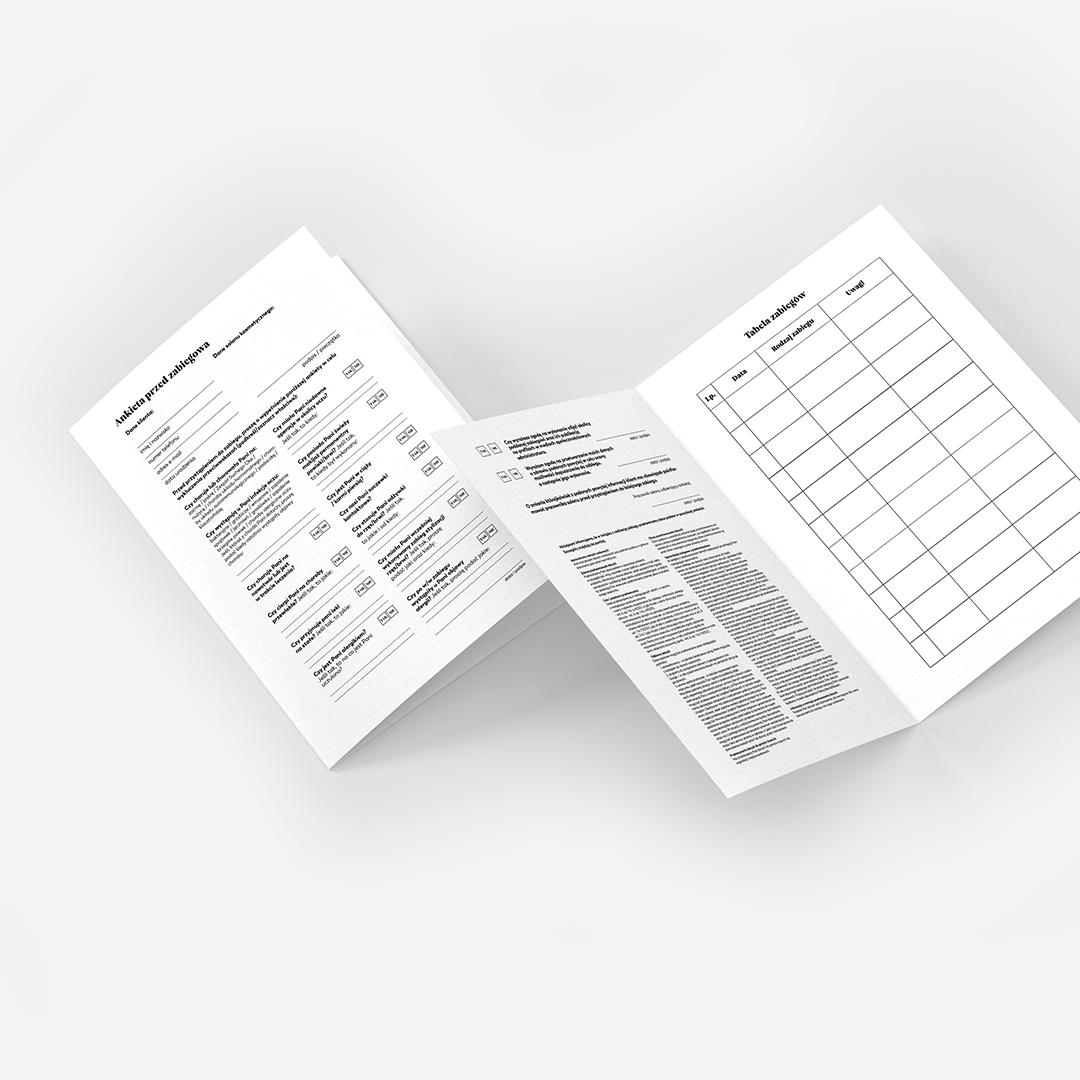 Karty Klienta - stylizacja rzęs/brwi