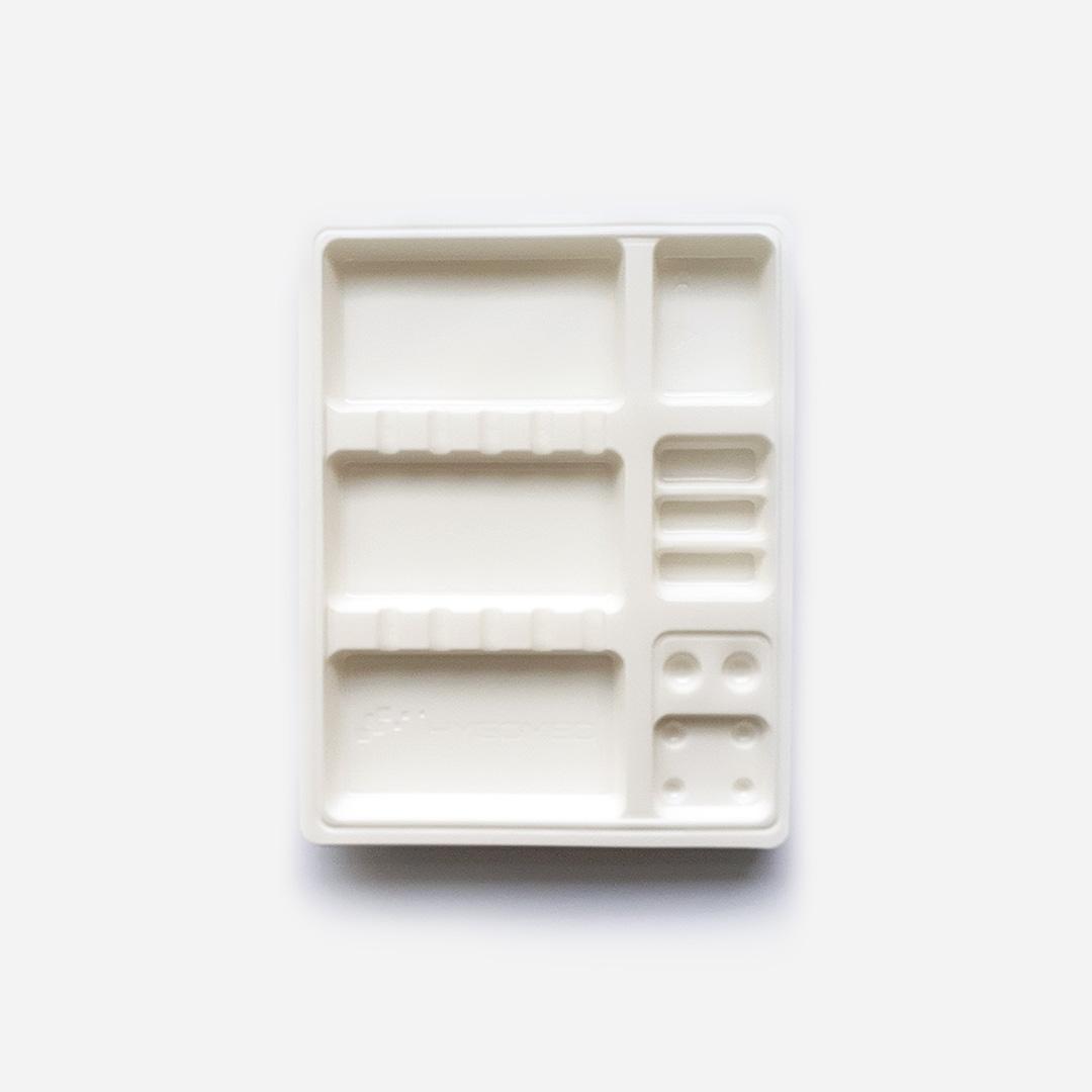 Tacki plastikowe jednorazowe - białe