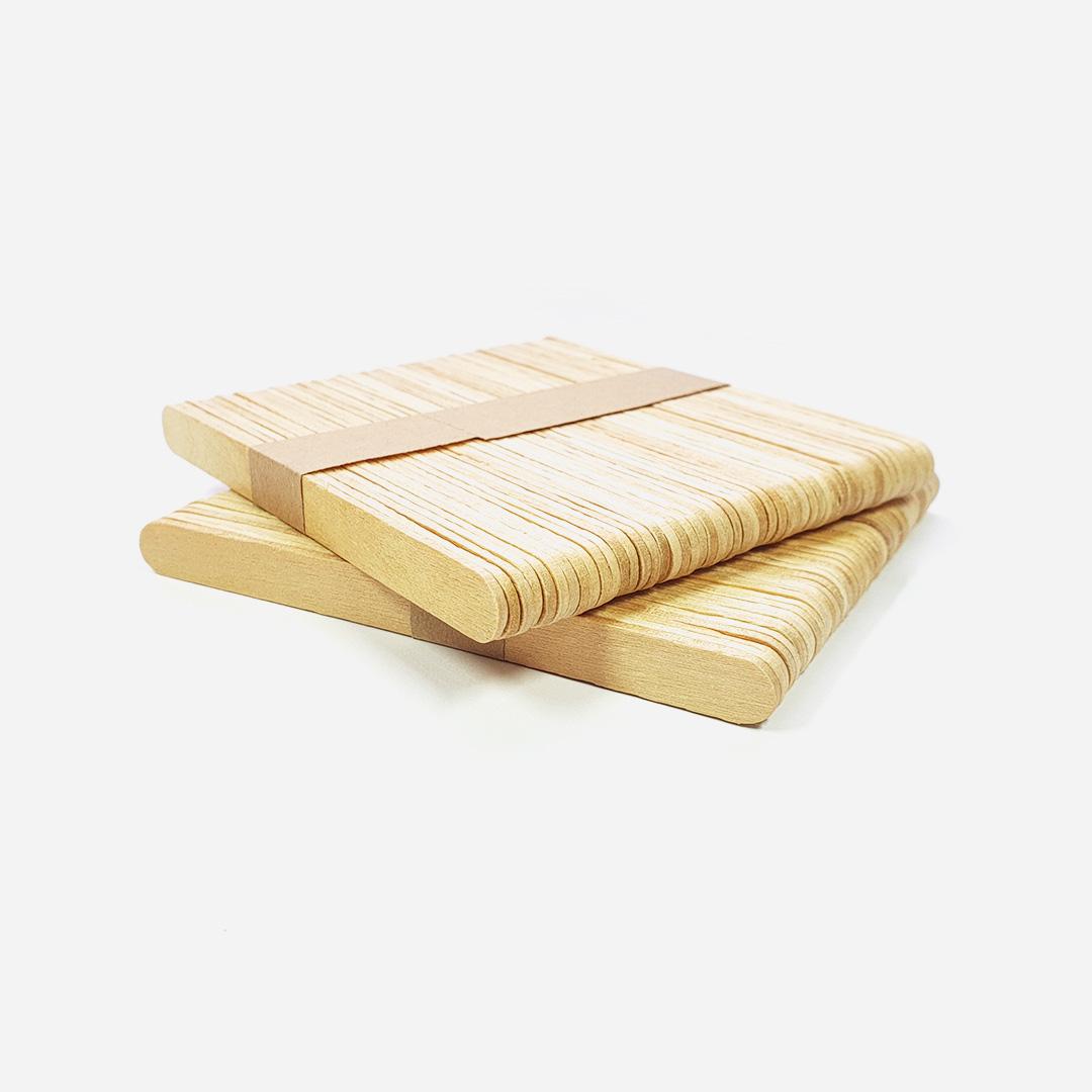 Szpatułki drewniane małe - 100 sztuk